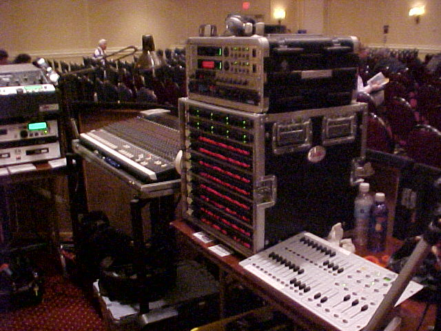 FOH Mixer, EQ, Effects rack & Lighting controller