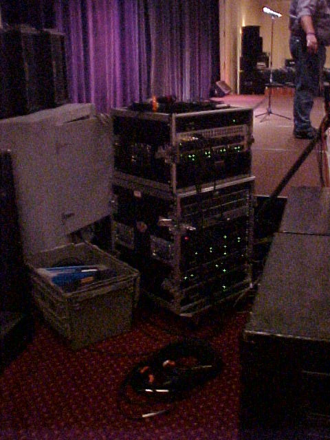 Main & Monitor Amp Racks at Stage Right