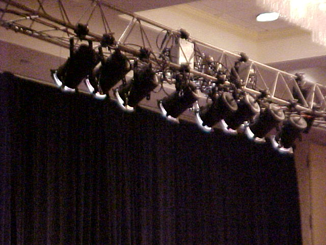PAR cans over stage